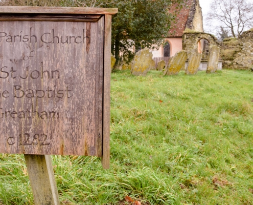 photo of Old Parish Church sign