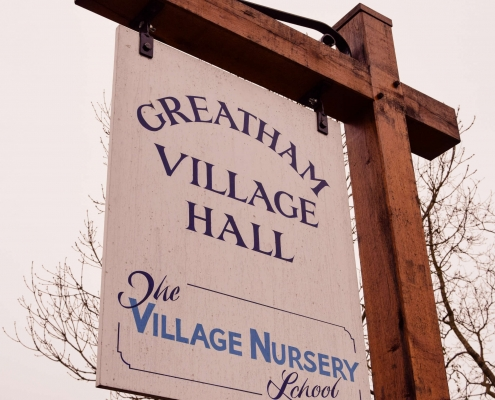 photo of Greatham Village Hall sign