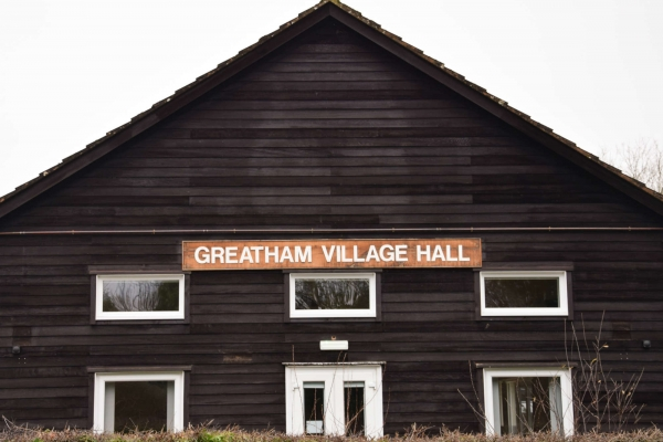 photo of the Greatham Village Hall entrance