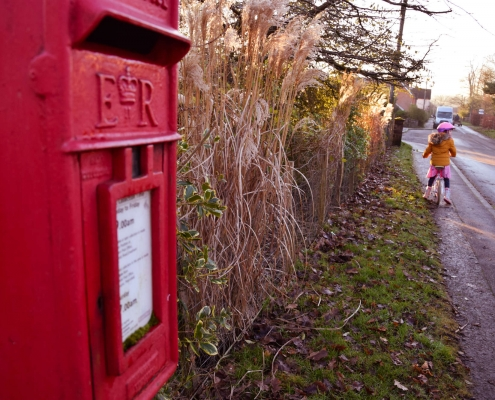 photo of a postbox in Greatham